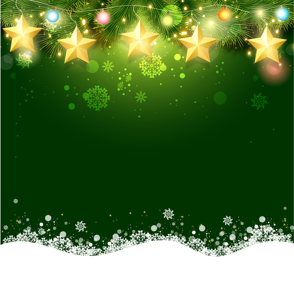 green christmas background design vector 01