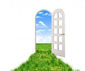Green landscape windows and doors HD picture