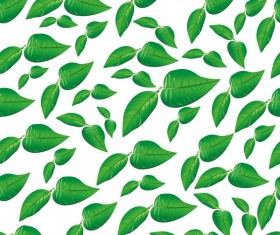 Green leaves seamless pattern vectors