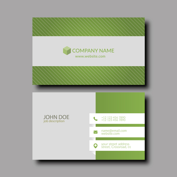 Green with white business card template vector free download green with white business card template vector wajeb Choice Image