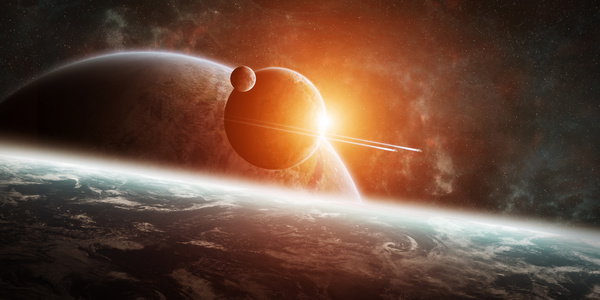 Group of planets in space HD picture 05
