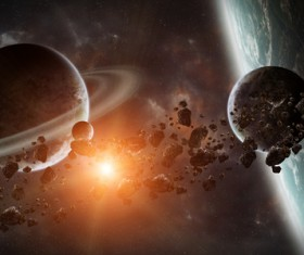 Group of planets in space HD picture 08