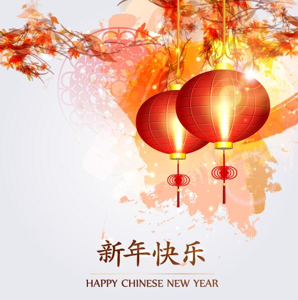 Happy chinese new year greeting card with lantern vector 01 free happy chinese new year greeting card with lantern vector 01 m4hsunfo