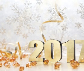 Happy New Year 2017 Stock Photo 01