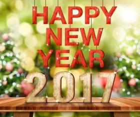 Happy New Year 2017 Stock Photo 02