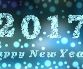 Happy New Year 2017 Stock Photo 03