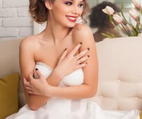 Happy smiling bride Stock Photo