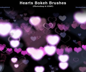 Heart Bokeh and GIMP photoshop brushes