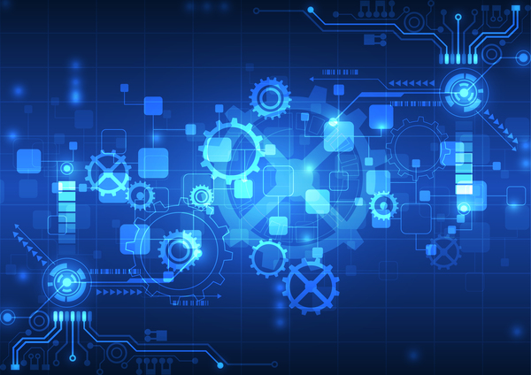 High Tech Background Blue Styles Vector 03 Free Download