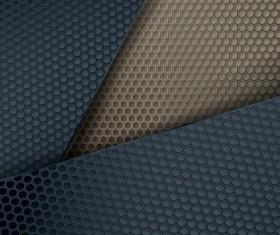 Honeycomb metallic material background vector 01