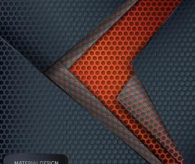 Honeycomb metallic material background vector 02