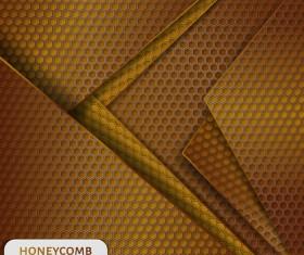 Honeycomb metallic material background vector 03