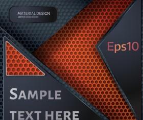 Honeycomb metallic material background vector 04