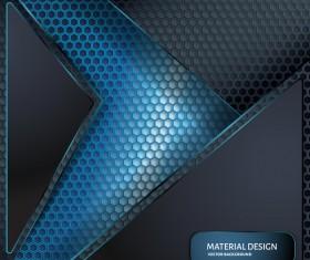 Honeycomb metallic material background vector 05