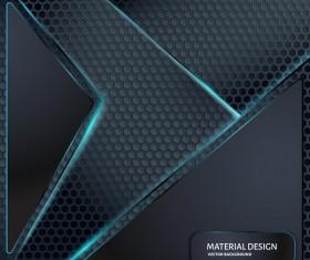 Honeycomb metallic material background vector 06