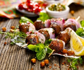 Kebabs spices Stock Photo