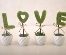 LOVE potted plants Stock Photo