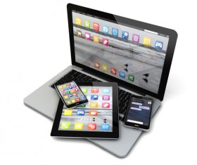 Laptop, smartphones and tablet Stock Photo 01