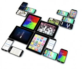 Laptop, smartphones and tablet Stock Photo 02