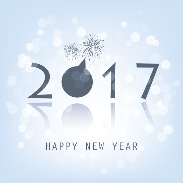 Light colored 2017 new year background vector 02