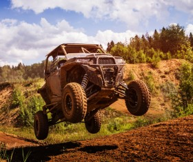 Limit off-road challenges Stock Photo