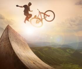 Limit the bike challenge Stock Photo