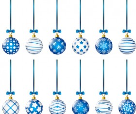 Luxury christmas ball decor icons