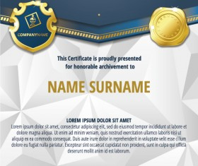 Luxury diploma and certificate template vector design 12