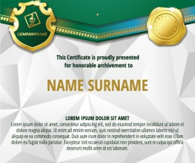 Luxury diploma and certificate template vector design 13