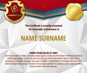 Luxury diploma and certificate template vector design 14