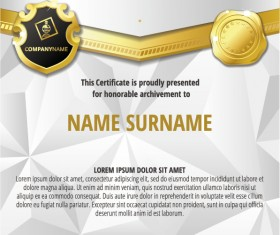 Luxury diploma and certificate template vector design 16