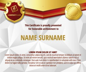 Luxury diploma and certificate template vector design 17
