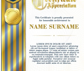 Luxury diploma and certificate template vector design 19