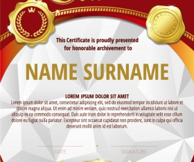 Luxury diploma and certificate template vector design 20