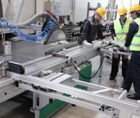 Machine Tool Workers Stock Photo
