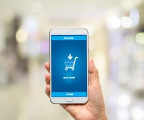 Mobile online shopping Stock Photo