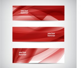 Modern banner with red abstract vector 02