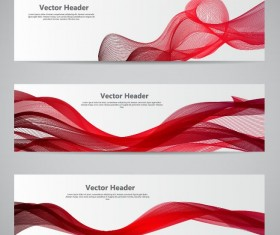 Modern banner with red abstract vector 03