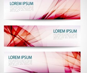 Modern banner with red abstract vector 04