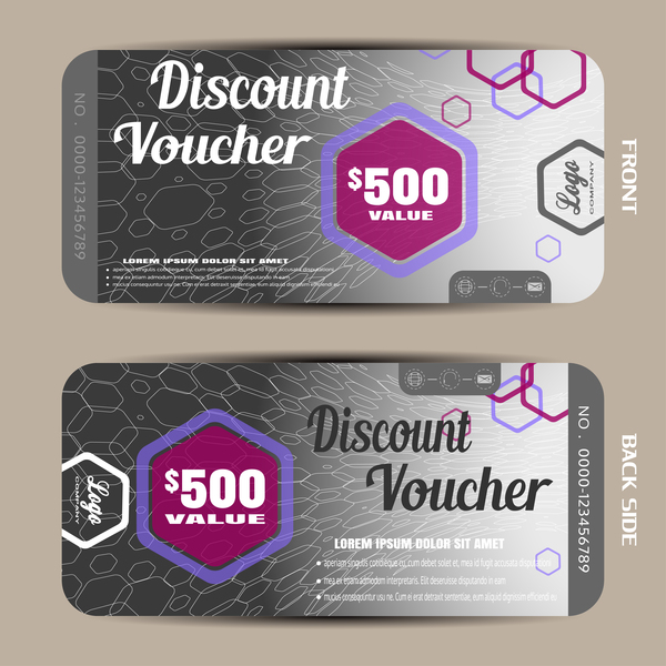 Modern discount voucher template vector 04