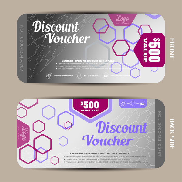 Modern Discount Voucher Template Vector 06  Free Discount Vouchers