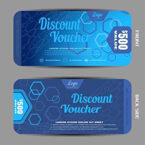 Modern discount voucher template vector 07