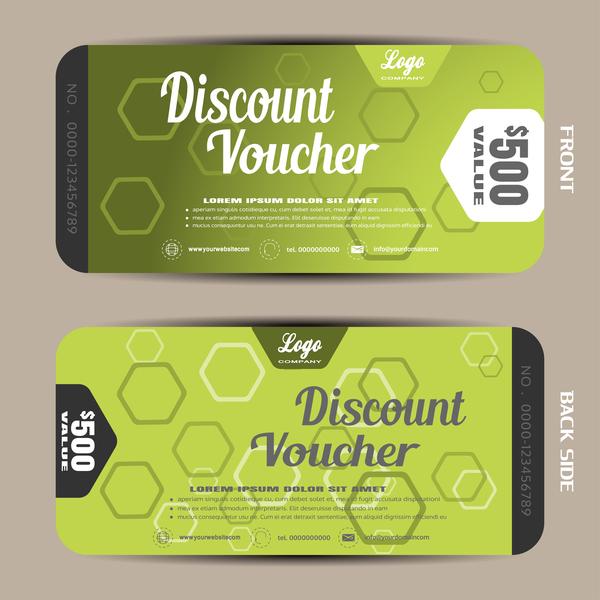 Modern discount voucher template vector 08