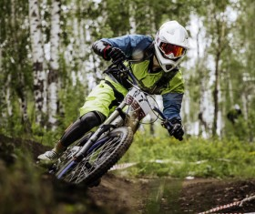 Mountain bike cross country Stock Photo