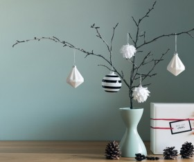 Natural and simple Christmas decoration Stock Photo 01