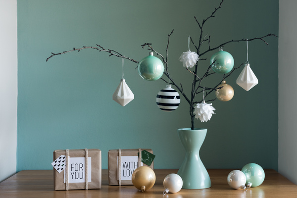 Natural and simple Christmas decoration Stock Photo 03
