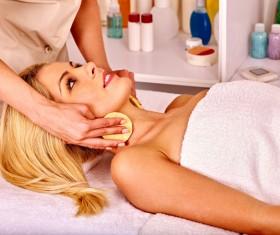 Neck Massage Care Stock Photo