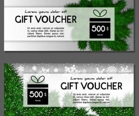 New Year gift voucher template vectors set 02