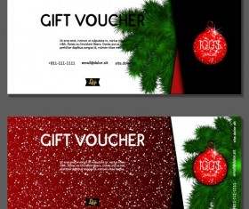 New Year gift voucher template vectors set 03