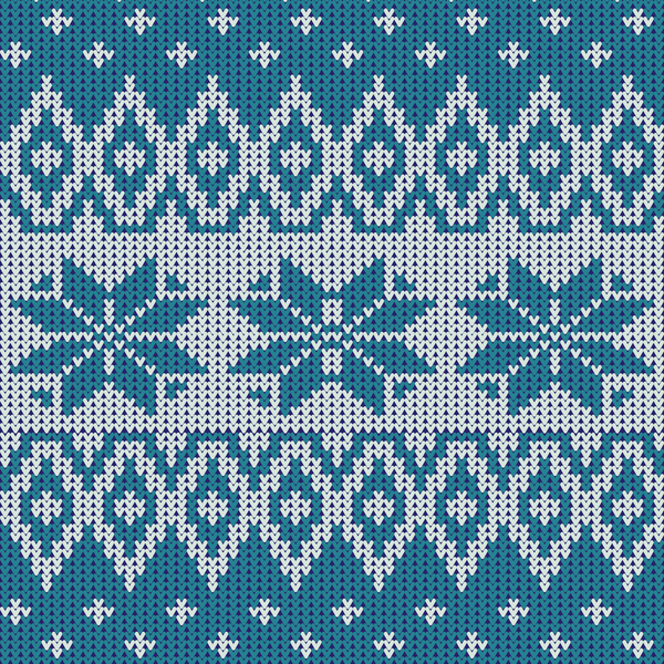 Knitted Snowflake Patterns : Nordic knitted pattern with snowflakes vector - Vector Pattern free download
